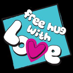 Free hug with LOVE.